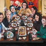 a dinner in brittany, oil on canvas, 80x100cm, 2009