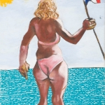 girl on a boat, oil on canvas, 46x36cm, 2009