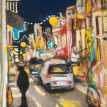 night lights, oil on canvas, 46x36cm, 2009