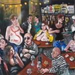 night on the terrace, oil on canvas, 80x100cm, 2009