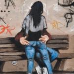 park bench, oil on canvas, 46x36cm, 2009