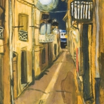 rue des putes, oil on canvas, 73x54cm, 2008