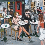 something about paris, oil on canvas, 80x100cm, 2009