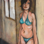 study for a bather, oil on canvas, 41x31cm, 2008