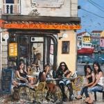 terrasse setoise, oil on canvas, 122x142cm, 2008