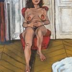 the parisian, oil on canvas, 61x46cm, 2008