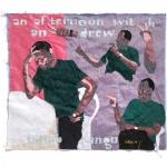 first impressions, silk tapestry, 55x61cm