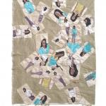 loosing dice, silk tapestry, 84x61cm