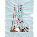 ponte tower, silk tapestry, 72x50cm