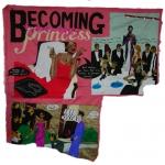 becoming princess tam tam, silk tapestry, 2006