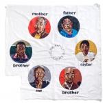 my family circle, silk tapestry, 104x104cm