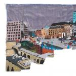 tower bridge, silk tapestry,  52x51 cm
