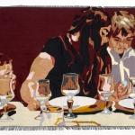 the love generation, silk tapestry, 37x78cm