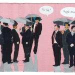 business as usual, silk tapestry, 83x125cm