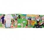 the beach, silk tapestry, 24x99cm