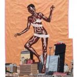 the rebirth of the black venus, silk tapestry, 127x103cm