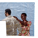 signs of rain, silk tapestry, 77x80 cm