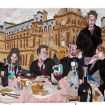 the last supper, silk tapestry, 2005