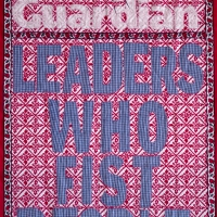 Leaders who fist people, fabric and embroidery, 160x82 cm, 2008