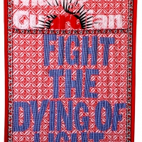 fight the dying of light, fabric and embroidery, 155x115 cm, 2008