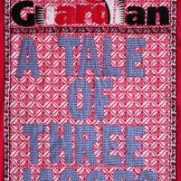a tale of three jacobs, fabric and embroidery, 125x82 cm, 2008