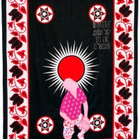 fortune teller, fabric and embroidery, 155x111 cm, 2008