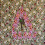 Hierarcy of mockery, fabric and embroidery, 300x220 cm, 2008
