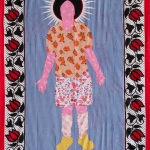 defenceless, fabric and embroidery, 155x115 cm, 2008