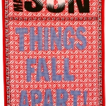 things fall apart, fabric and embroidery, 160x82 cm, 2008