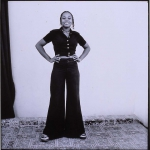 young girl with bell bottoms, 1972, hand printed fiber base silver gelatin print