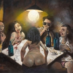 after the potato eaters, oil on canvas, 70x95cm, 2007