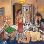 april's fools, oil on canvas, 122x142cm, 2007
