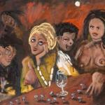 la nuit, oil on canvas, 71x96cm, 2007