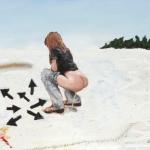 marie-lou sous la neige, oil on canvas, 71x96cm, 2007