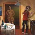 no man is an island, oil on canvas, 71x96cm, 2006