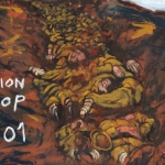 spion kop, oil on canvas, 45x61cm, 2008