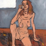 the aquestrian woman, oil on canvas, 61x45cm, 2008