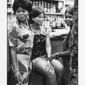 the three marias, casablanca bar, 1970, hand printed fiber base silver gelatin print