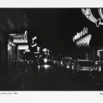 cabaret night and day, 1970, hand printed fiber base silver gelatin print