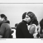 in the embrace of the night, 1970, hand printed fiber base silver gelatin print