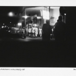 sailor's night in the rua araujo, 1969, hand printed fiber base silver gelatin print