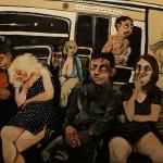 midnight on the metro, oil on canvas, 81x100cm, 2013
