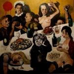 the ambassadors Friends 1, oil on canvas, 150x150cm, 2013