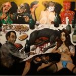 the ambassadors Friends 2, oil on canvas, 150x165cm, 2013