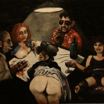 the potato eaters revisited, oil on canvas, 81x100cm, 2013