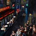 paris by night, oil on canvas, 162x130cm, 2010