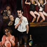 the night was young, oil on canvas, 162x130cm, 2011
