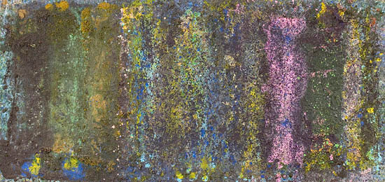 bill ainslie, matopos, acrylic on canvas, 140x320cm,1986