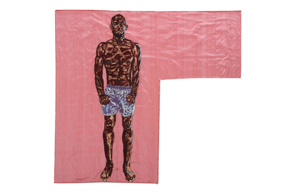 black adonis, silk tapestry, 138x152 cm