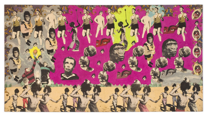 steven cohen, untitled, serigraphy on canvas, 119x225cm, 1994